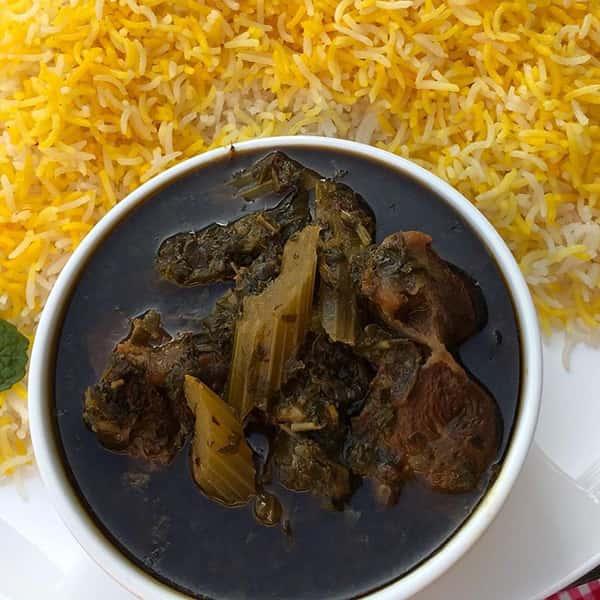 persian celery stew vegetarian with lamb calories khoresh karafs